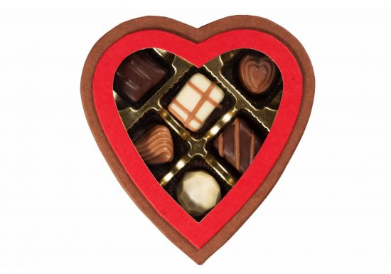 Heart Shape Chocolate Gift Box - Small