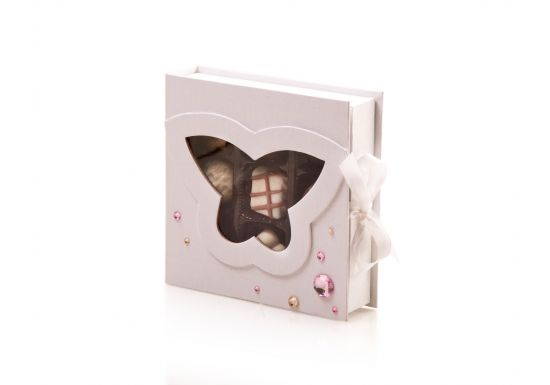 White Butterfly Gift Box